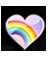 Heart 4 (Rainbow)